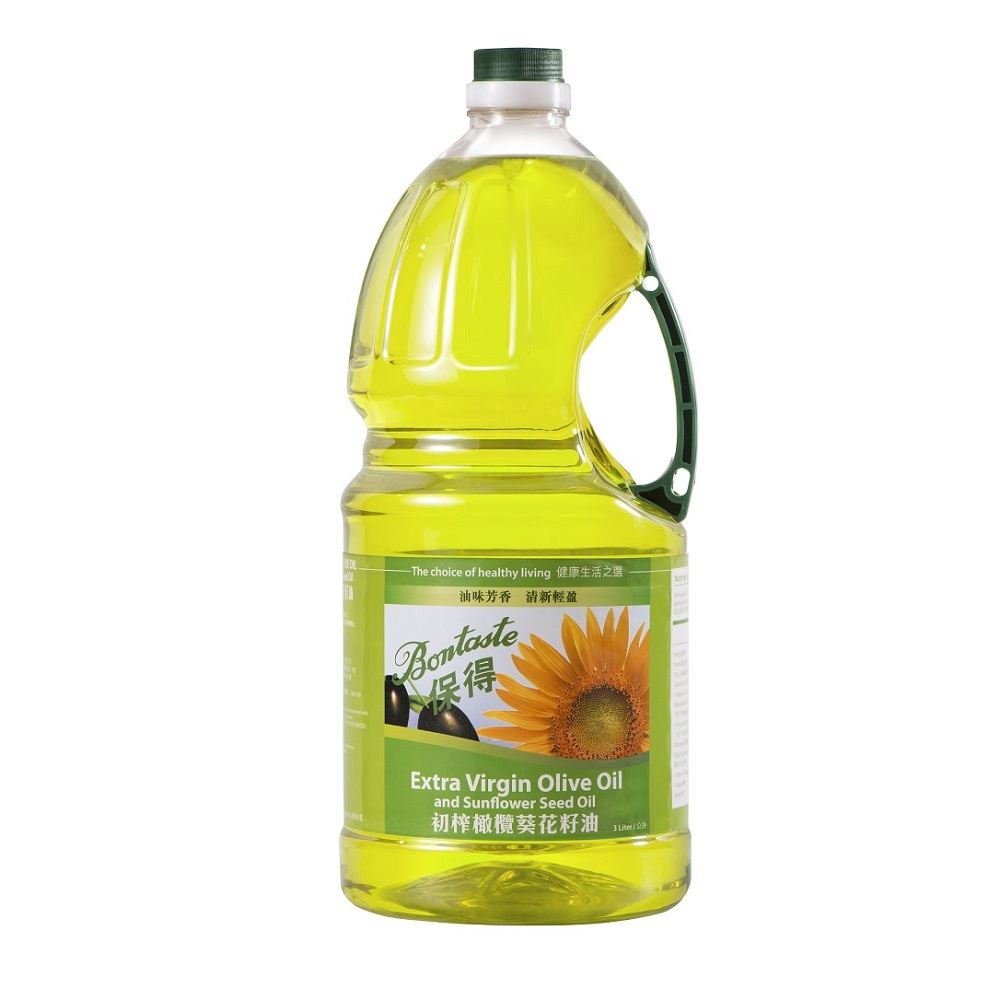 Bontaste Extra Virgin Olive Oil and Sunflower Seed Oil 3L