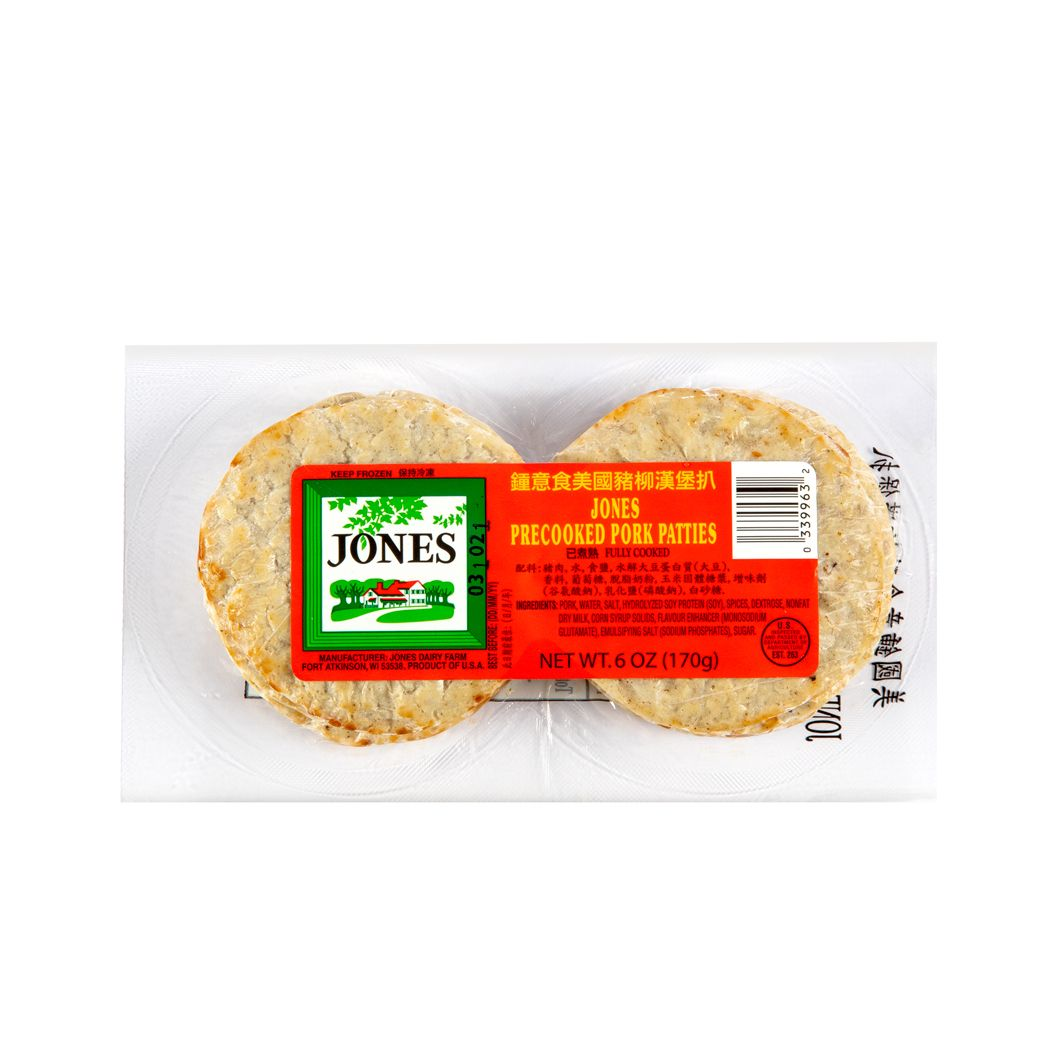 JONES PRECOOKED PORK PATTES 170G