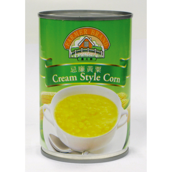 FARMER CREAM STYLE CORN 410GM