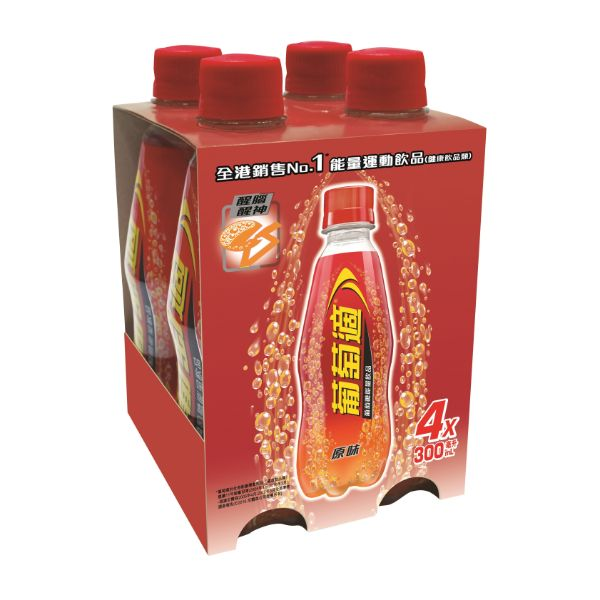 LUCOZADE 300ML X 4s (Regular)