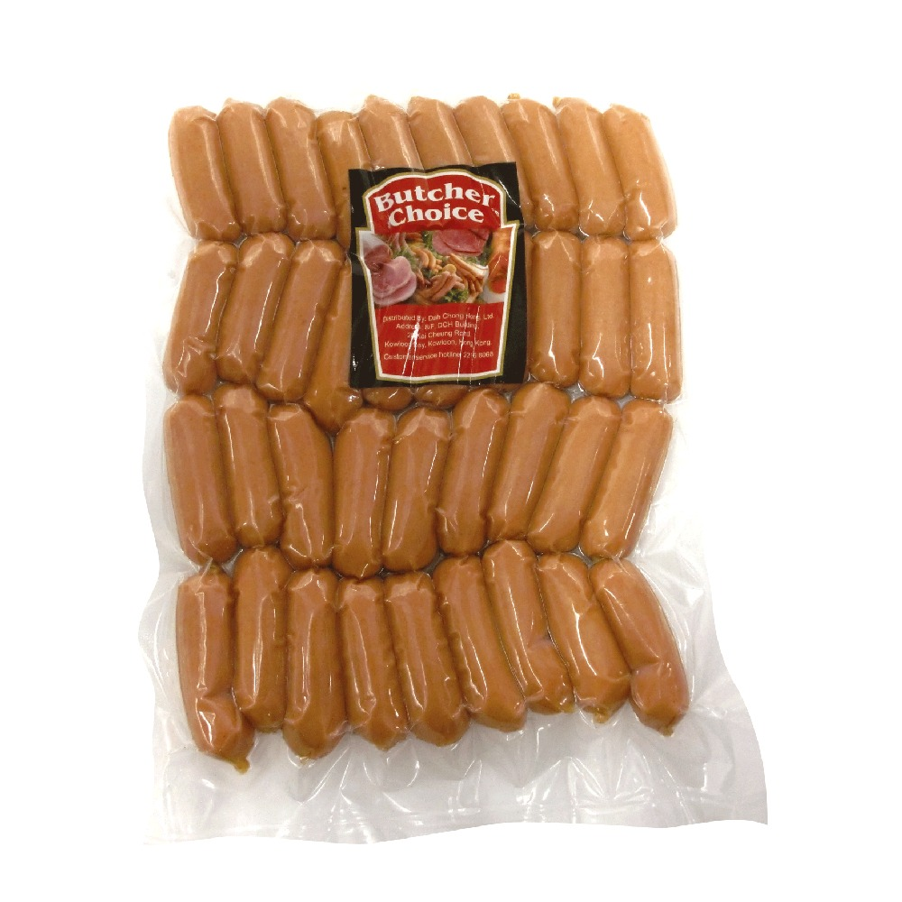 BUTCHER CHOICE MINI CHEESE COCKTAIL SAUSAGE 454G