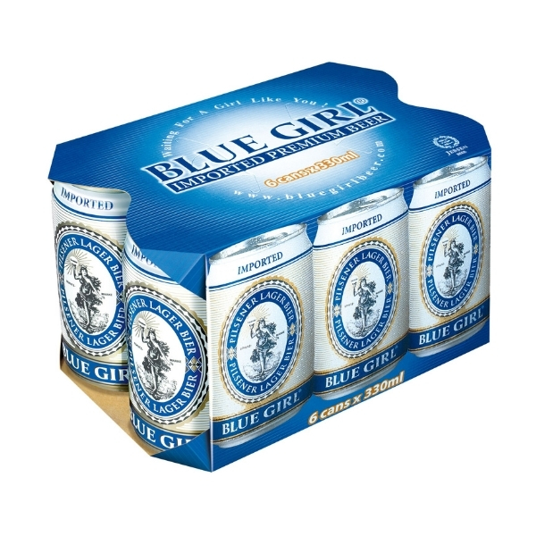 BLUE GIRL BEER 330ML X 6S CAN