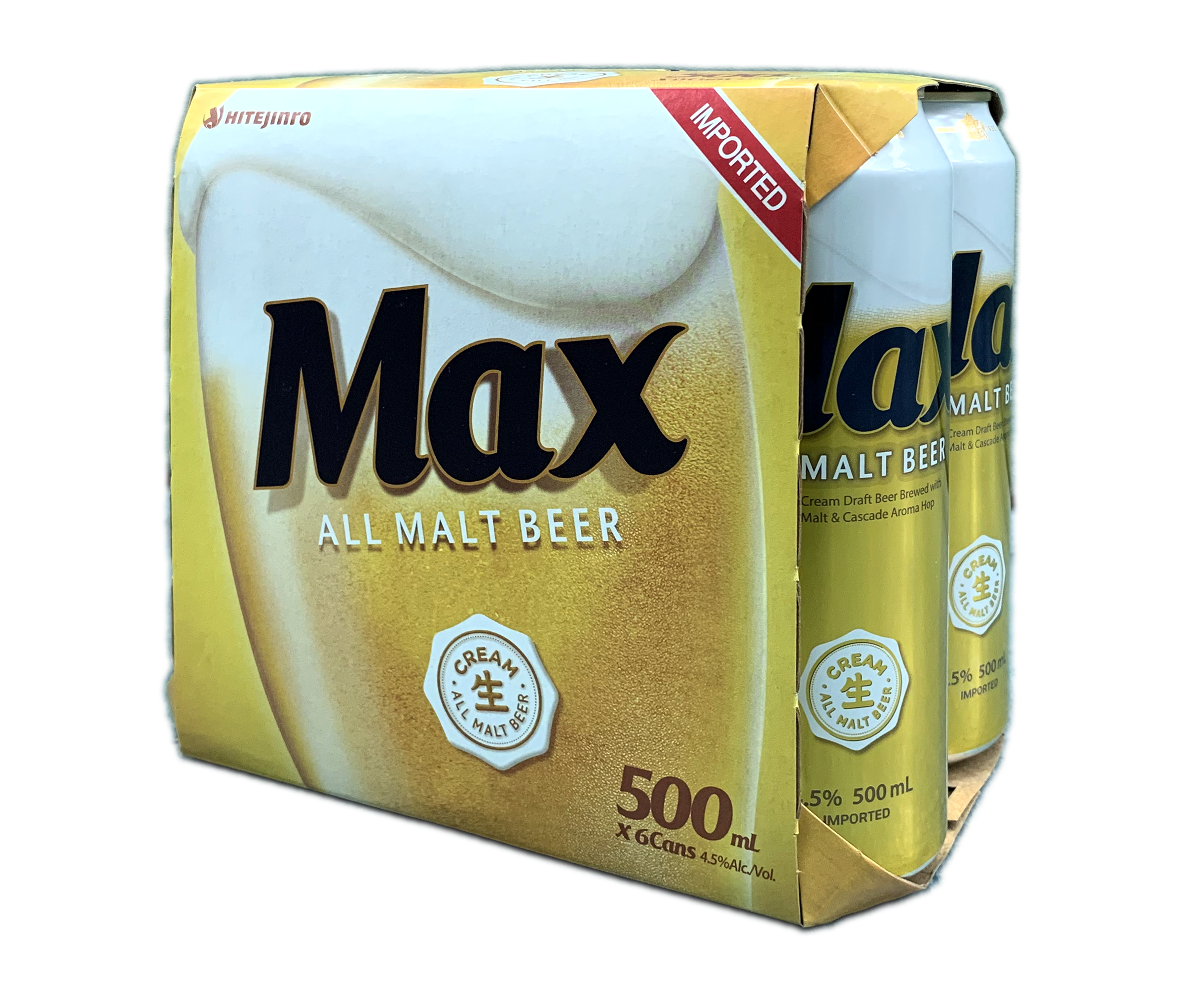 HITE MAX BEER 500ML X 6