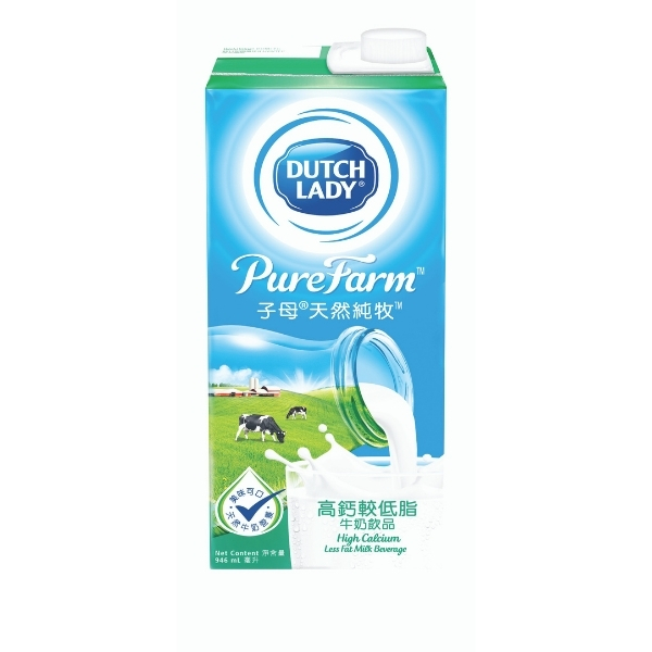 DUTCH LADY PURE FARM HI-CAL LESS FAT MILK 946 ML