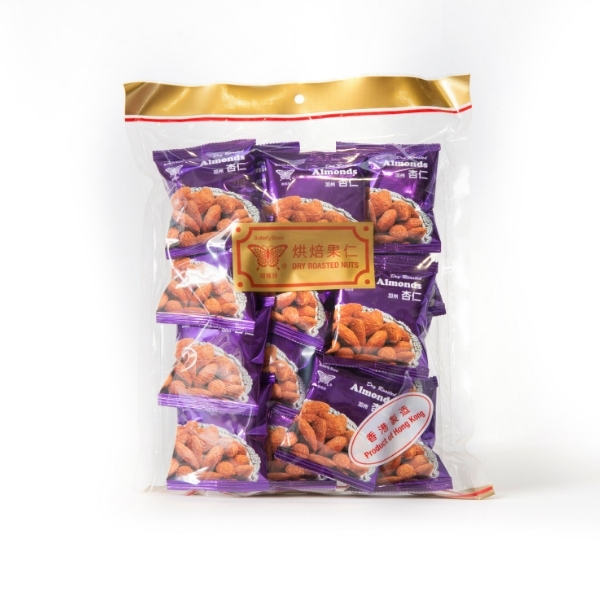 BUTTERFLY BRAND DRY ROASTED ALMONDS 210G