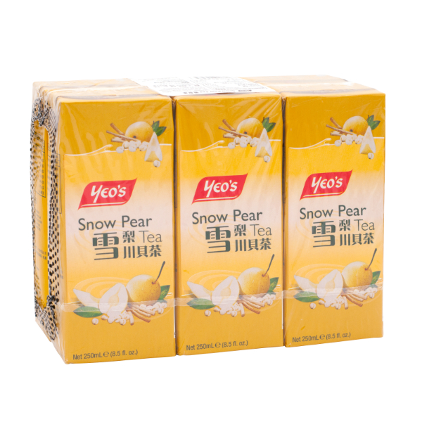 YEOS TB SNOW PEAR TEA 250ML 6S (CASE DEAL)