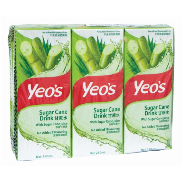 YEOS TB SUGAR CANE 250ML 6S (CASE DEAL)