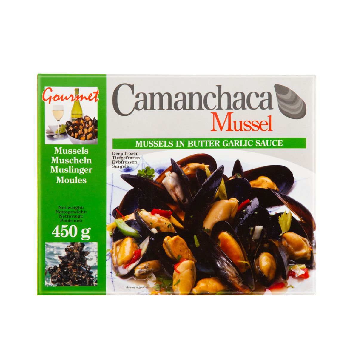 Camanchaca Cooked Blue Mussel with Butter Garlic Flavour450G