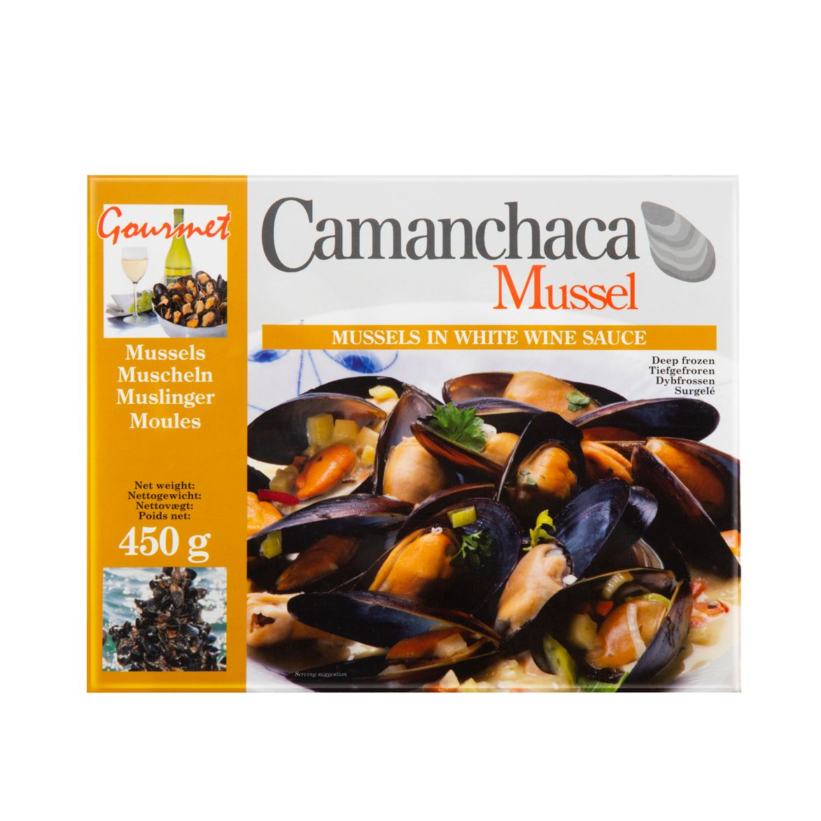 Camanchaca Cooked Blue Mussel with White Wine Flavour450G