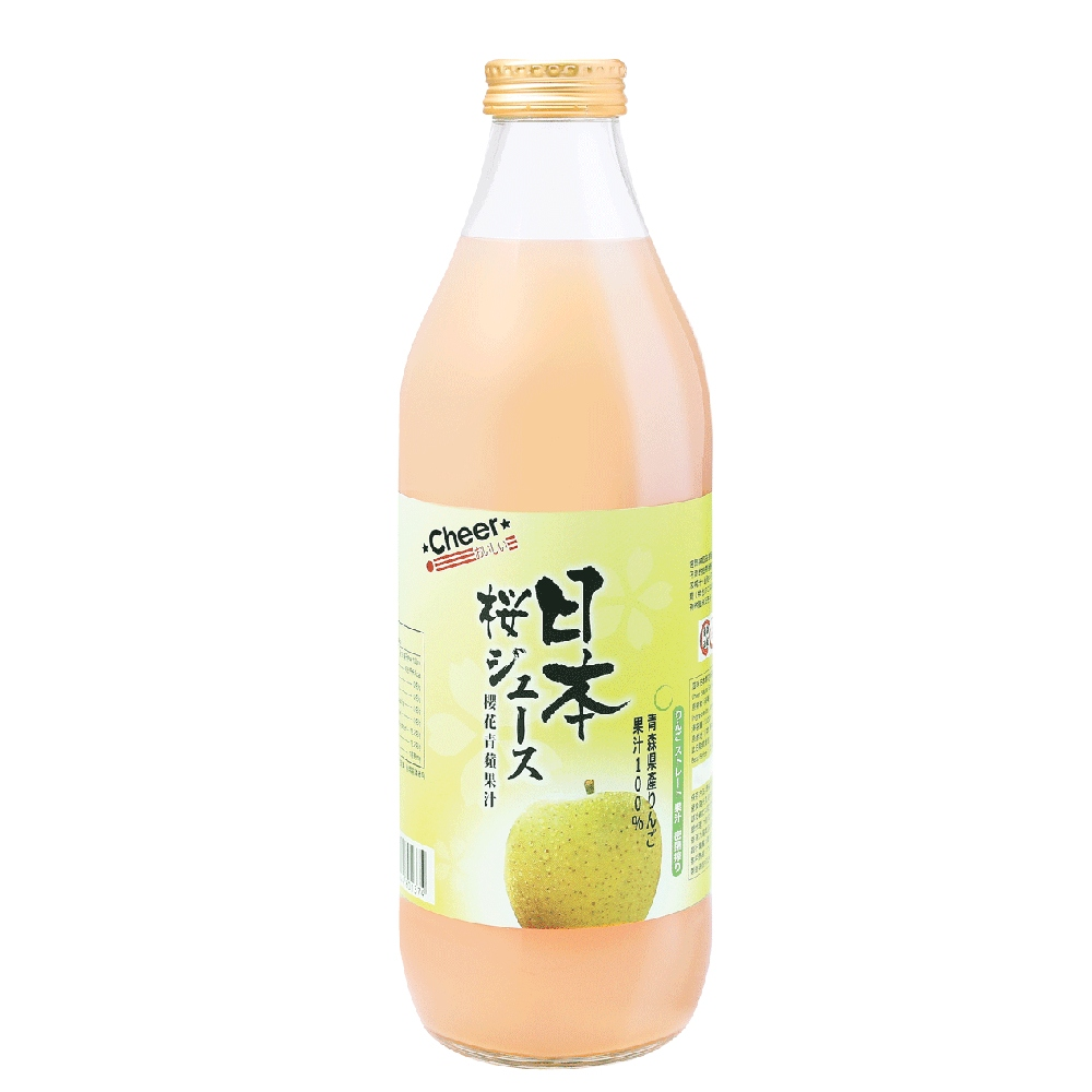 Cheer Japan Sakura Green Apple Juice 1L
