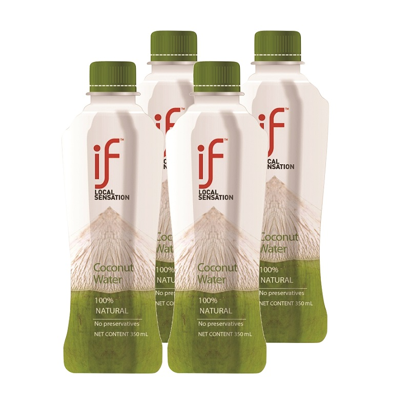 IF 100% COCONUT WATER 350ML X 4