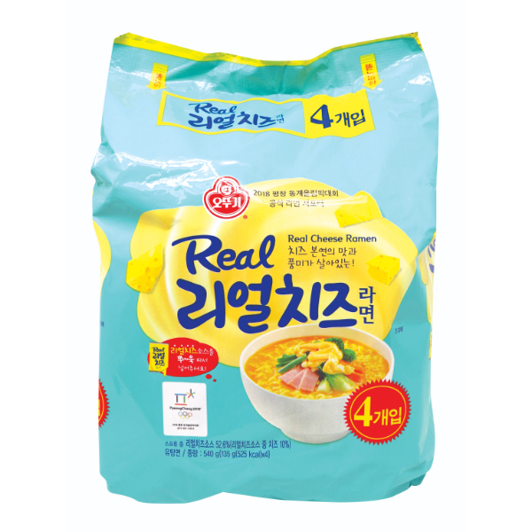 OTTOGI REAL CHEESE RAMEN 135G X 4 PACK