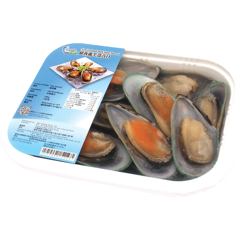 OCEAN FRESH FROZEN NEW ZEALAND HALF SHELL MUSSELL 280G