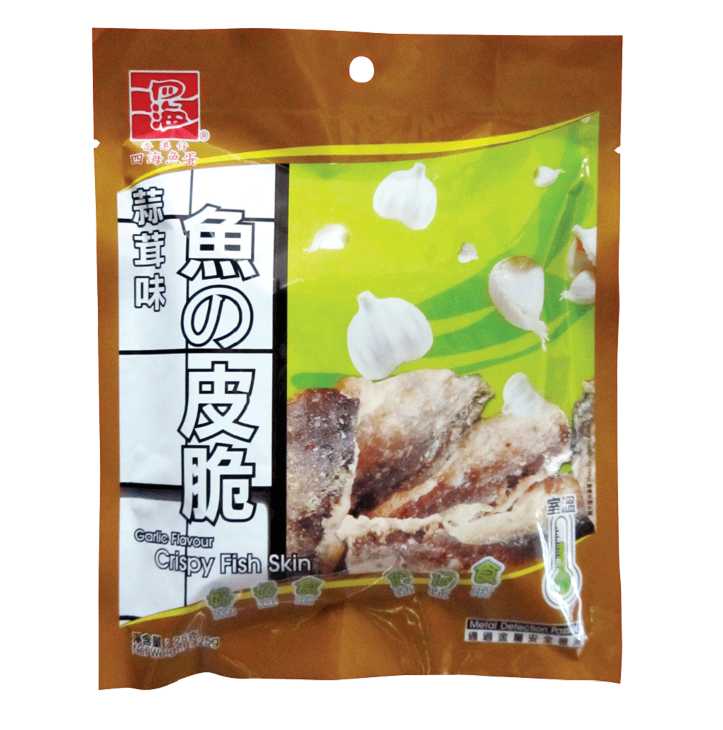 FOURSEA CRISPY FISH  SKIN(GARLIC FLAVOUR) 25G