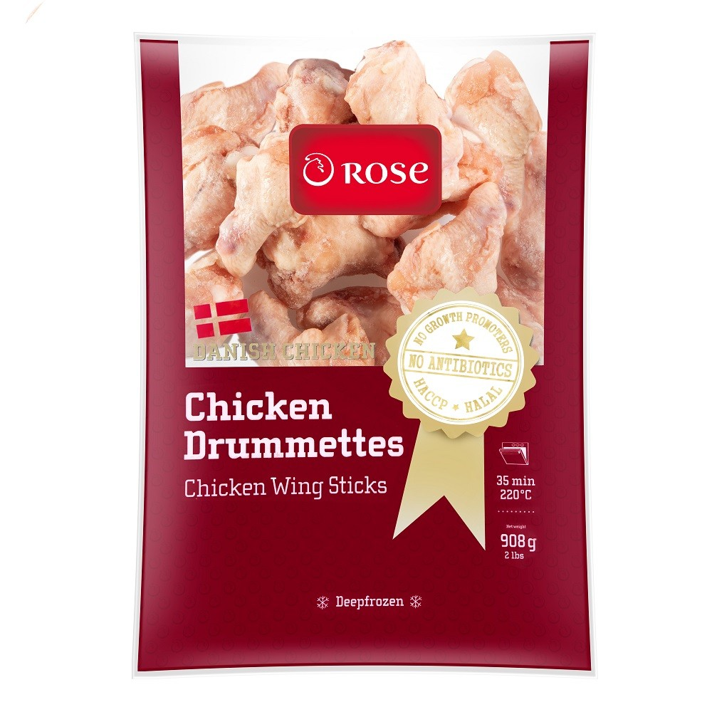 ROSE DANISH CHICKEN DRUMMETTES 2LB
