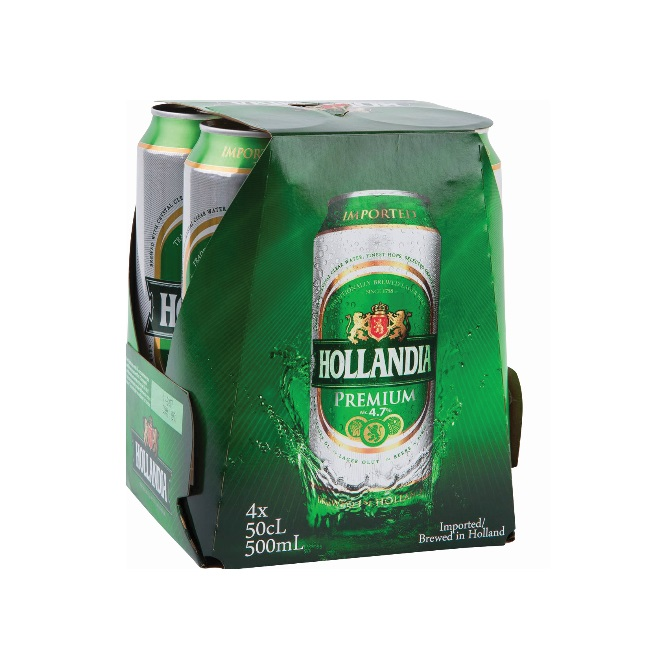 HOLLANDIA BEER 500ML X 4 (CASE DEAL)