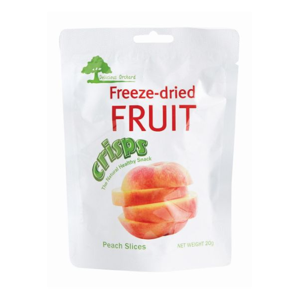 DELICIOUS FREEZE-DRIED PEACH SLICES 20G