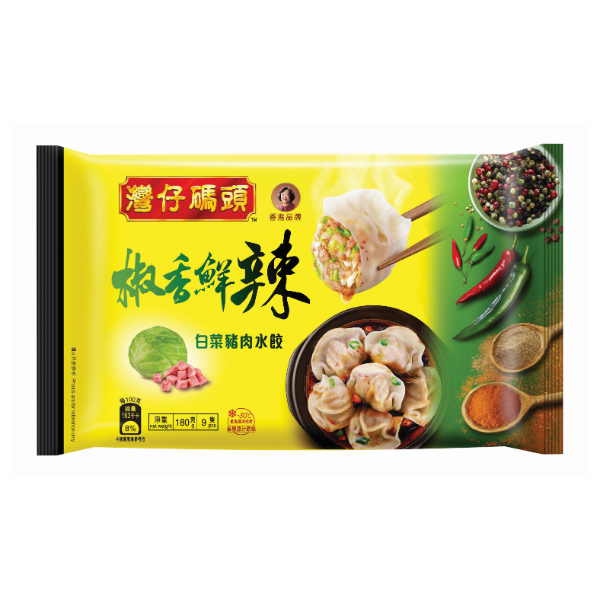 WCF GREEN SICHUAN PEPPER CABBAGE & PORK SPICY DUMPLING 180G