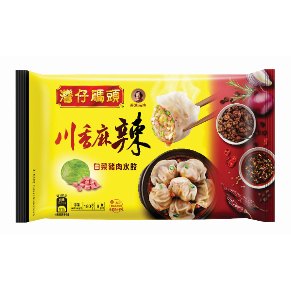 WCF SICHUAN PEPPER CABBAGE & PORK SPICY DUMPLING 180G