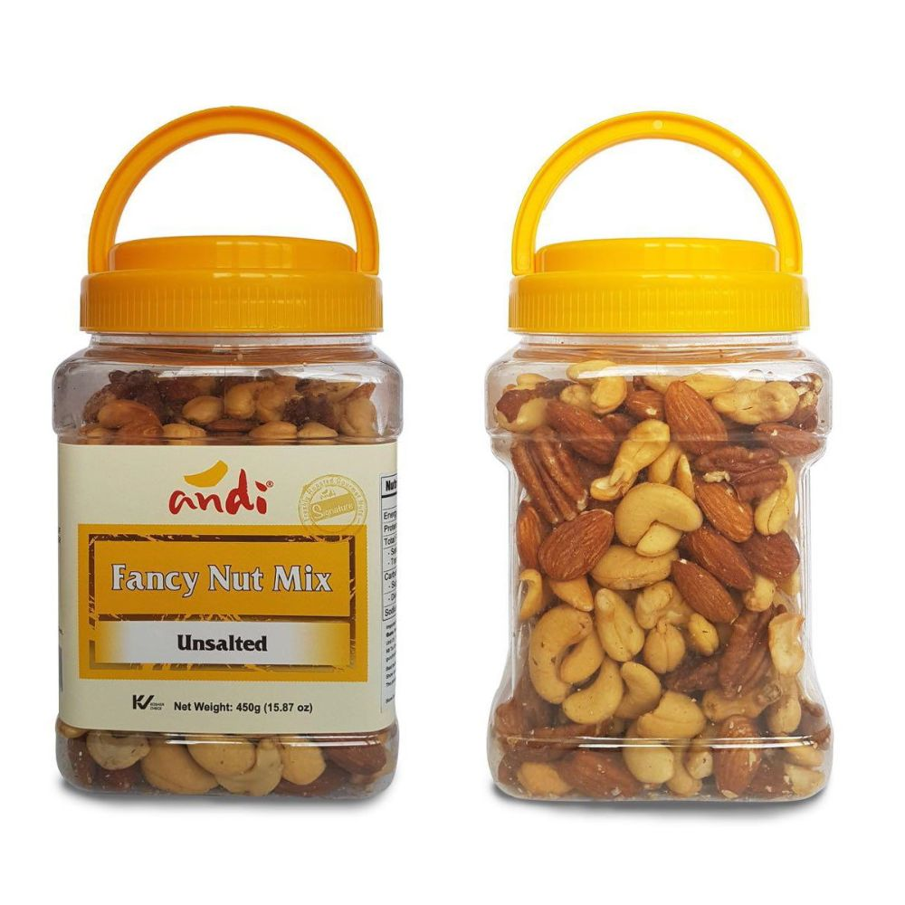 ANDI FANCY NUTS MIX UNSALTED 450G