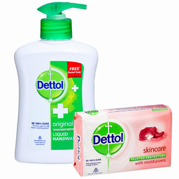 DETTOL HAND WASH 200ML (FREE DETTOL SOAP)