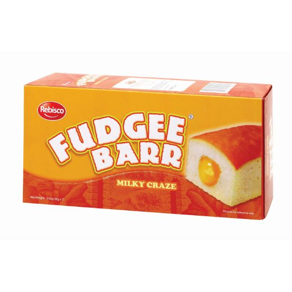 FUDGEE BARR CUSTARD FILLED CAKE 210G 7P