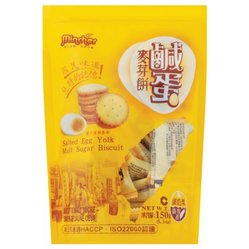 MK SALTED EGG MALT BISCUIT 150G
