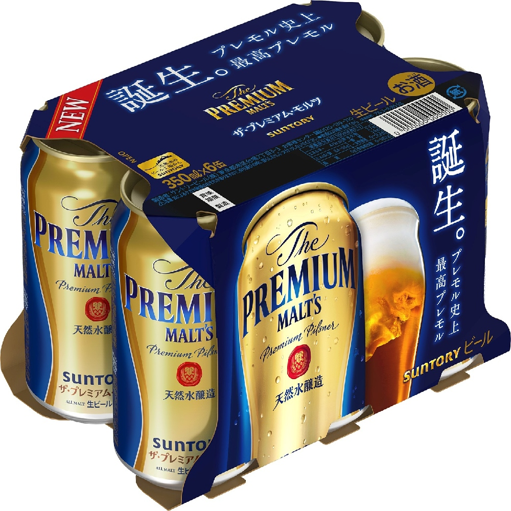 SUNTORY THE PREMIUM MALTS 350ML X 6S