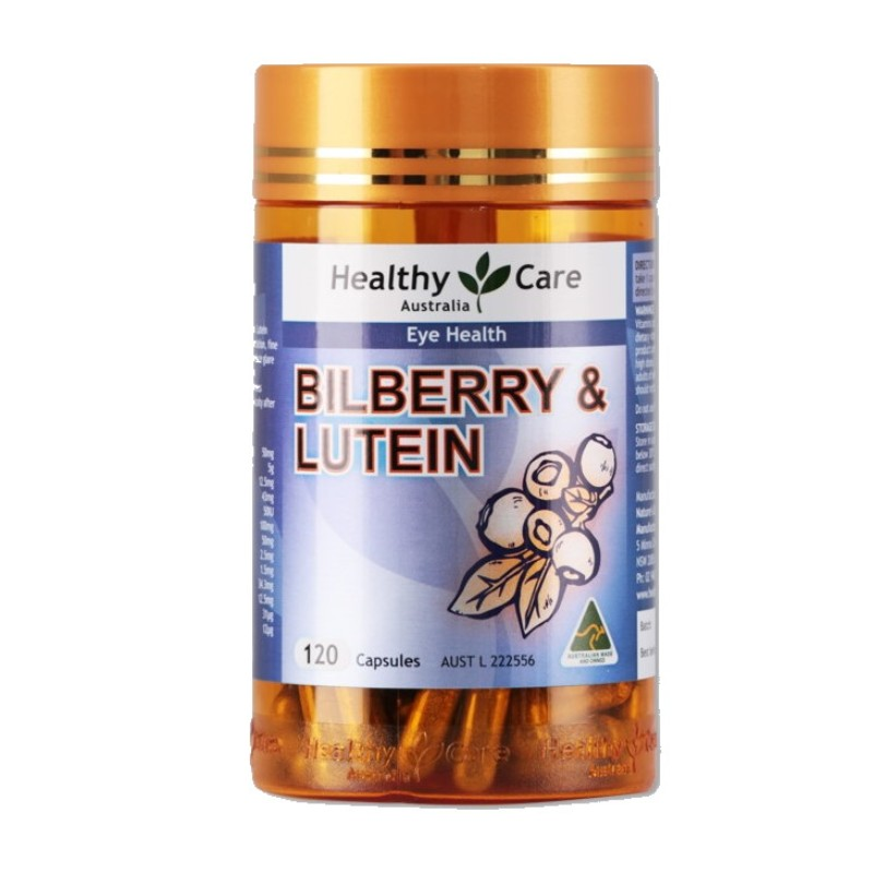 HEALTHY CARE - Bilberry & Lutein 120 Capsules