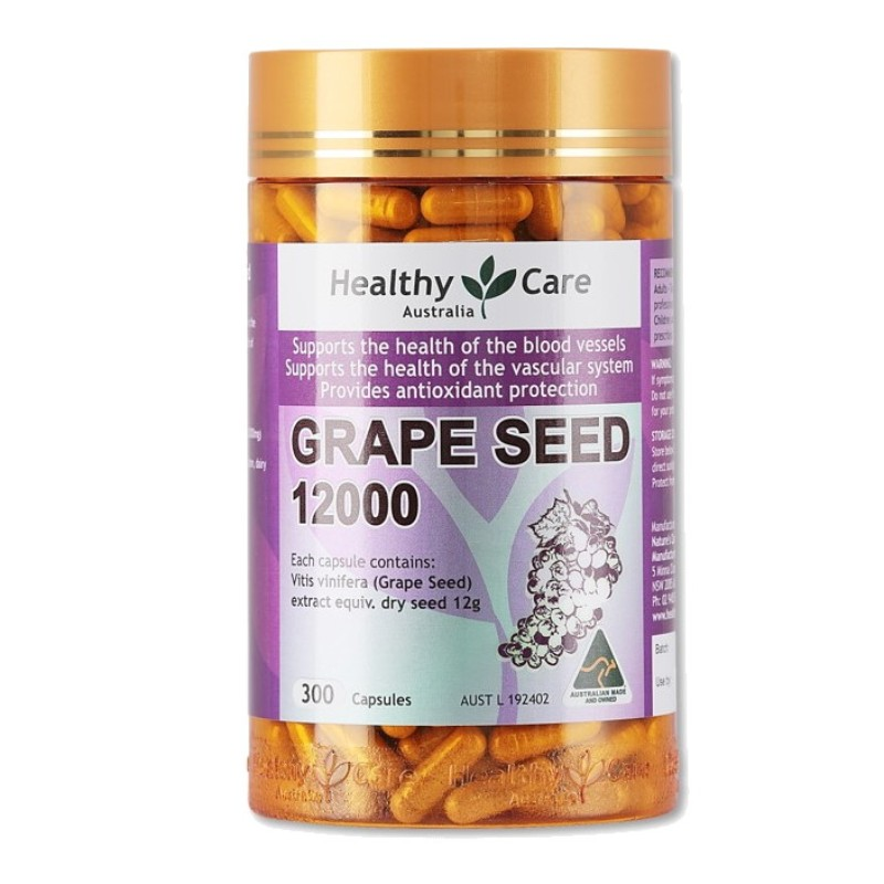 HEALTHY CARE - Grapeseed 12000 300 Capsules