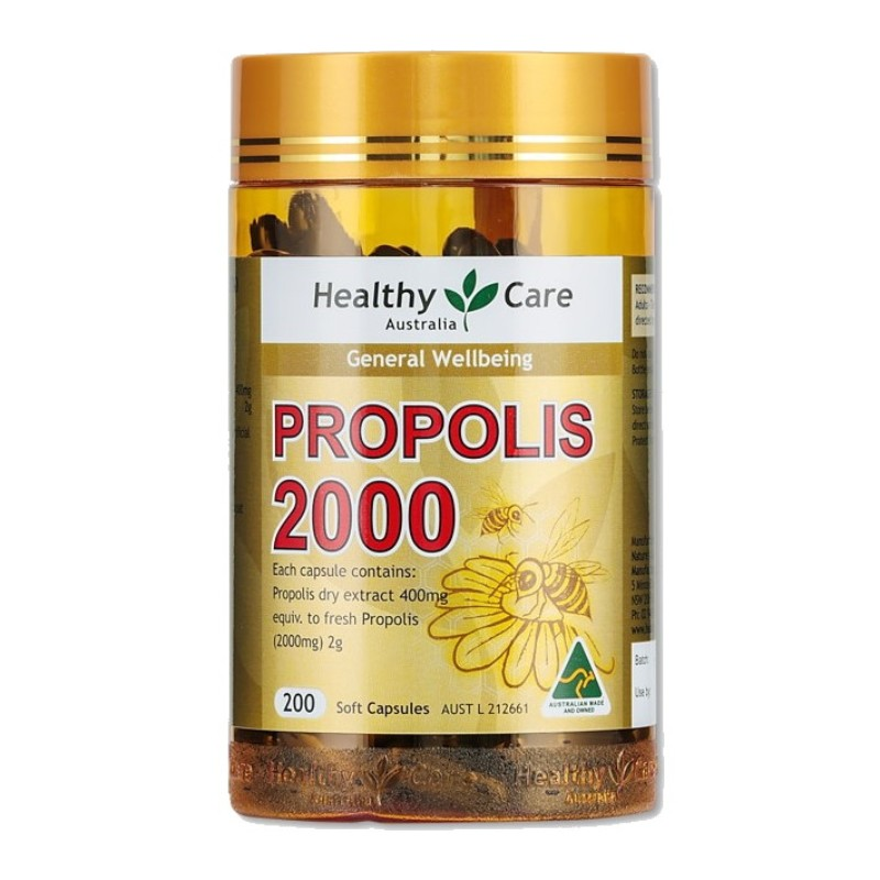 HEALTHY CARE - Propolis 2000 200 Capsules