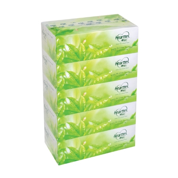 HEARTTEX GREENTEA BOX TISSUE 5S