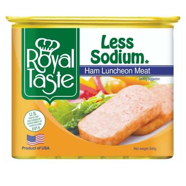 RT LESS SODIUM HAM LUNCHEON 340G