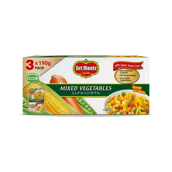 DM MIXED VEGETABLES 3IN1 3X190G