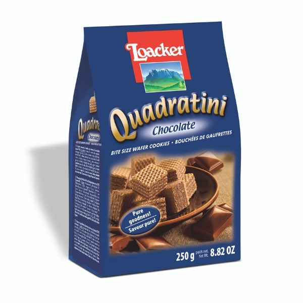 LOACKER WAFER QUAD CHOCOLATE 250G