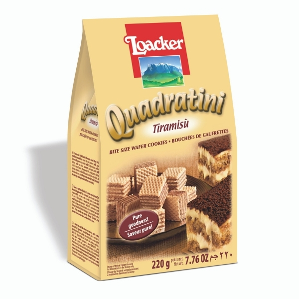 LOACKER WAFER QUAD CAPPUCCINO 220G