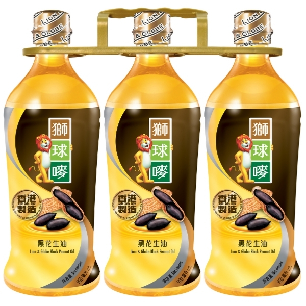 L&G BLACK PEANUT OIL 900ML X 3