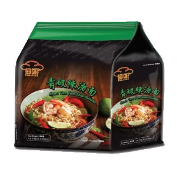 Red Chef Green Tom Yum Soup Noodles 4PCS