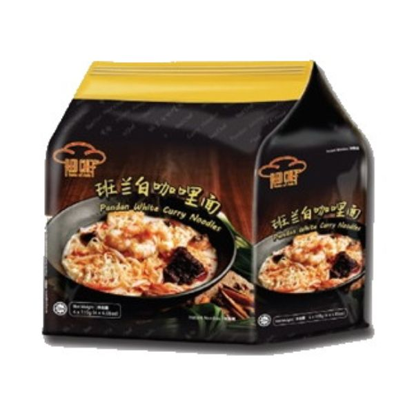 Red Chef Pandan White Curry Noodles 4PCS