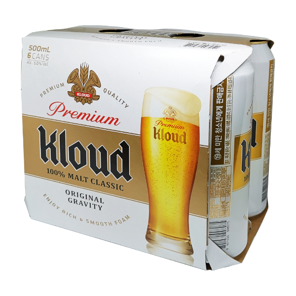 LOTTE KLOUD MALT BEER 500ML X6