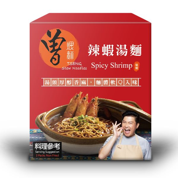 TSENG STEW NOODLES - SPICY SHRIMP 121G X 3PCS