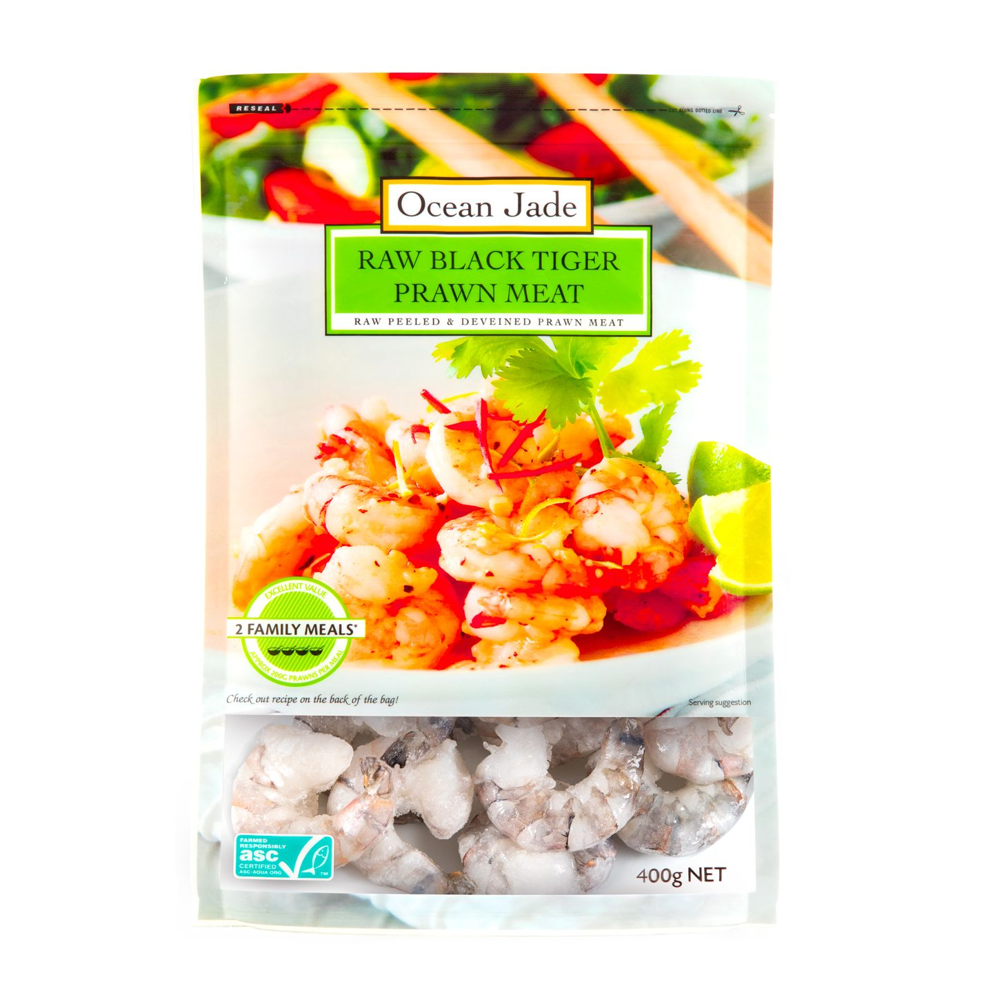 Vietnam Ocean Jade Black Tiger Prawn Meat 400gm