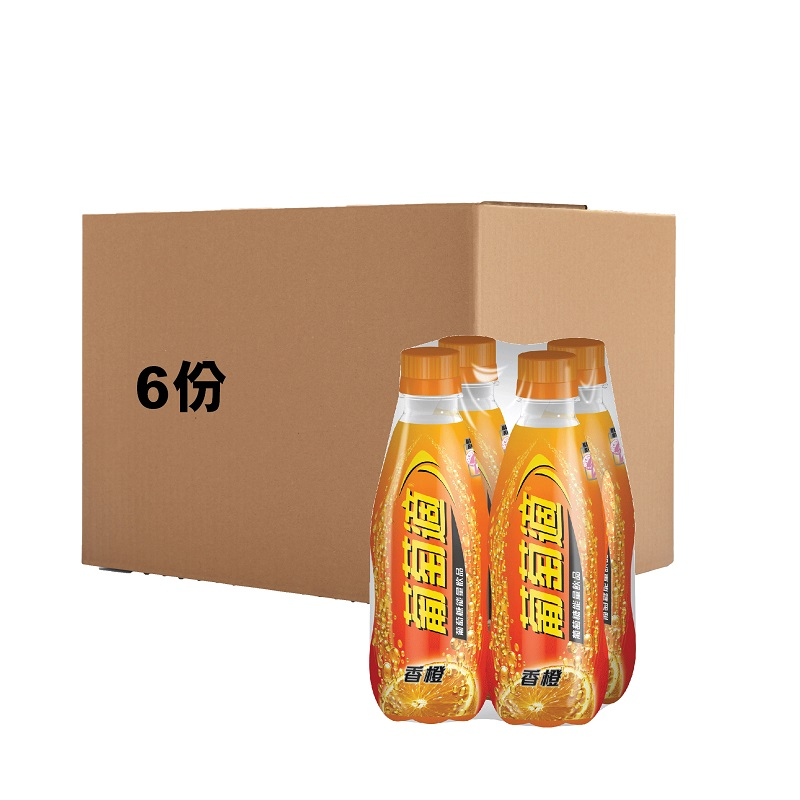 LUCOZADE 300ML X 4 ORANGE (CASE DEAL-6sets)