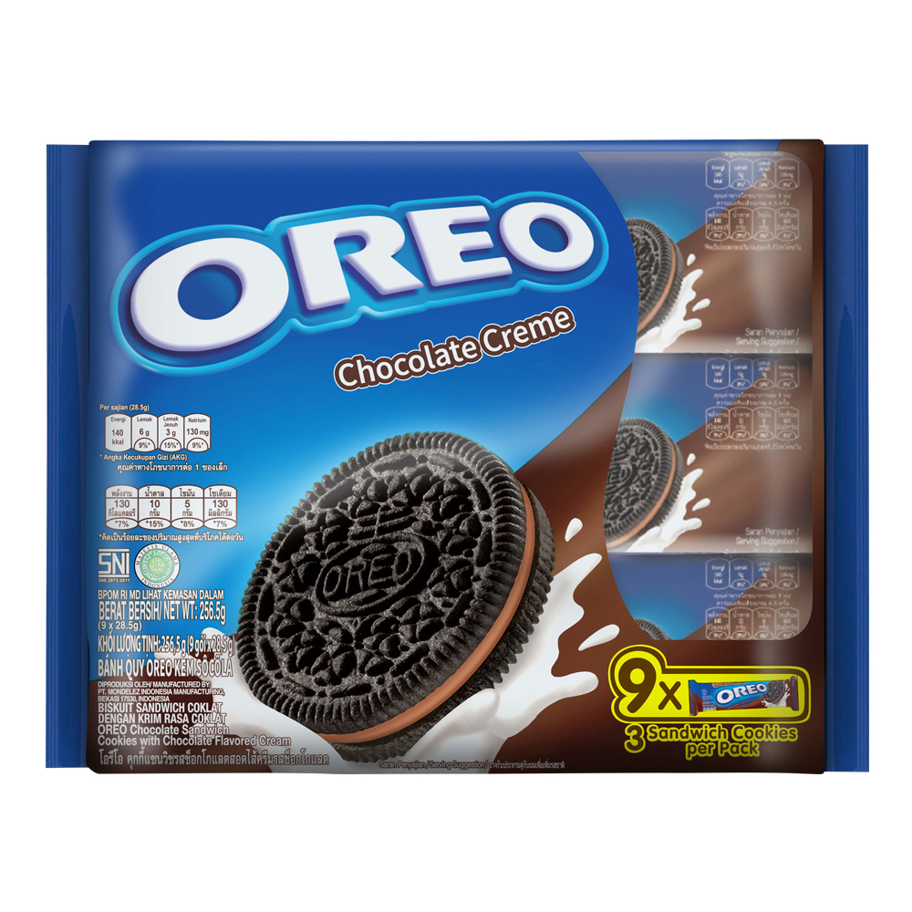 Oreo Chocolate Cream Sandwich 256.5g (9x28.5g)