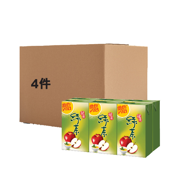 VITA APPLE GREEN TEA DRINK 250ML6PX4