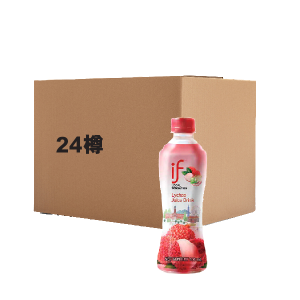 IF [FULL CASE] LYCHEE JUICE DRINK WITH ALOE VERA 350ML