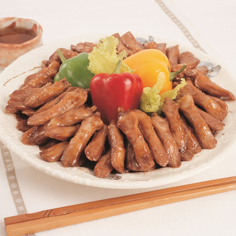 Braised Duck's Tongue in Oyster Sauce