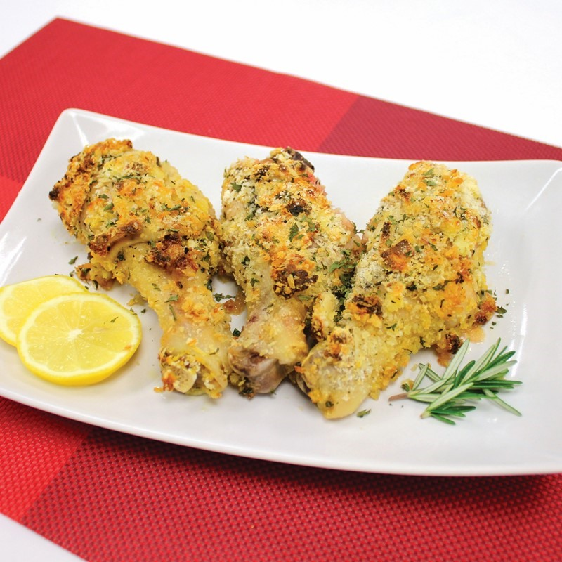 Baked Chicken Drumsticks with Garlic Cheese
